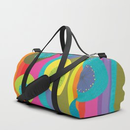 Groovy Retro Waves Duffle Bag