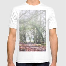 Enchanted Woodland Mens Fitted Tee White MEDIUM