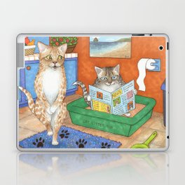 Cat in litter Laptop & iPad Skin