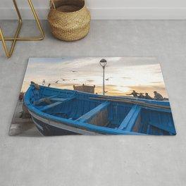 Blue Boat - Essaouira, Morocco Rug