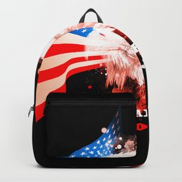 Independence Day, eagle with USA flag Backpack