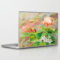 vintage floral Laptop & iPad Skins featuring Vintage Floral  by Colorful Art