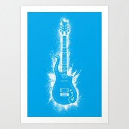 Cloud Guitar - Blue Angel Art Print