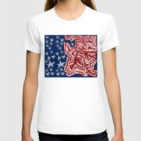 american flag T-shirts featuring American Flag by Brontosaurus