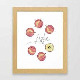Apple mood Framed Art Print