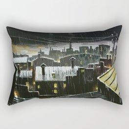 Rainy night in the factories Rectangular Pillow