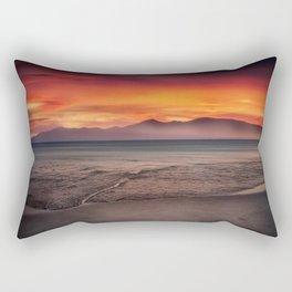 Black Sand Beach Rectangular Pillow