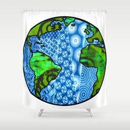 Planet Earth Globe Shower Curtain