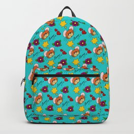 Hammy Pattern in Turquoise Backpack