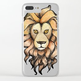 Lion head Clear iPhone Case