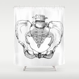 Pelvic Bone Shower Curtain