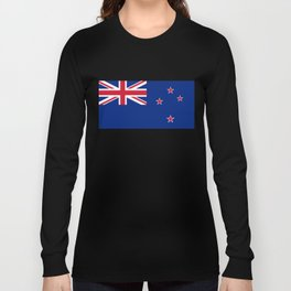 National flag of New Zealand - Authentic version to scale and color Long Sleeve T-shirt