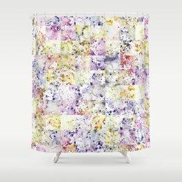 Sunshine Garnet Watercolour rain pattern Shower Curtain