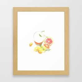 Citruses and drink Framed Art Print