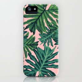 Philo Hope - Tropical Jungle Leaves Pattern #2 #tropical #decor #art #society6 iPhone Case