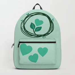 Cute heart in a nest Backpack