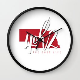 Nebraska - 4oh2 Wall Clock