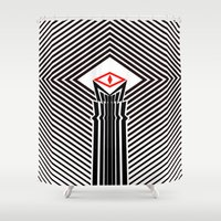 all seeing eye Shower Curtains featuring The All Seeing Eye by Manoy's Tee