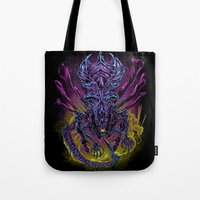 spawn Tote Bags featuring LONG LIVE THE QUEEN (color) by BeastWreck