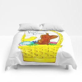 Vintage Happy Easter Comforters
