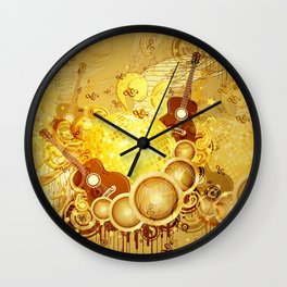 Golden disco ball Wall Clock