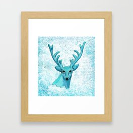 Blue Deer Framed Art Print