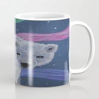 polar bear Mugs featuring Polar Bear by Renee Trudell