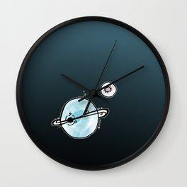 Planet-Moon Wall Clock