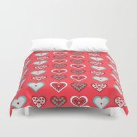 valentine Duvet Covers featuring Valentine by Heaven7
