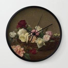 Henri- Fantin-Latour - A Basket Of Roses Wall Clock