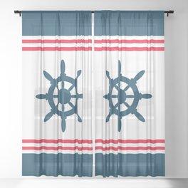 Sailing wheel Sheer Curtain