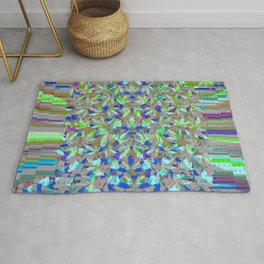 Pot leaves and pixel pattern Rug