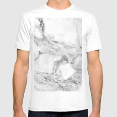 Marble MEDIUM Mens Fitted Tee White