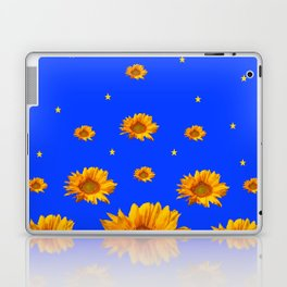 RAINING GOLDEN STARS YELLOW SUNFLOWERS BLUES Laptop & iPad Skin