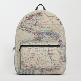 Vintage World Air Travel Map (1919) Backpack