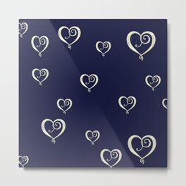 Polka Heart Party Metal Print