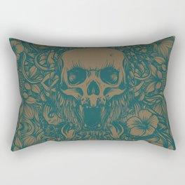 Blue Skull in jungle Rectangular Pillow