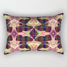 Celtic Futuristic Medallion Print Rectangular Pillow