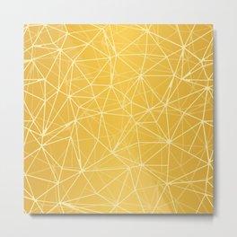Mosaic Triangles Repeat Seamless Pattern gold Metal Print