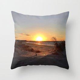 Off-Season Sunsets Throw Pillow