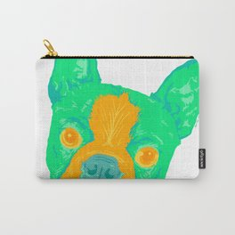 boston terrier - wht Carry-All Pouch