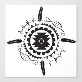 Native Amrican STEM Mandala Southwestern Canvas Print