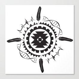 Native Amrican STEM Mandala Southwestern Canvas Print