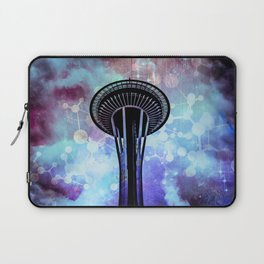 Space Needle - Seattle Stars Clouds Fog Laptop Sleeve