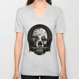Room Skull B&W Unisex V-Neck