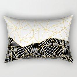Ab Half and Half White Gold Rectangular Pillow