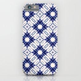 Watercolor Shibori Blue iPhone Case