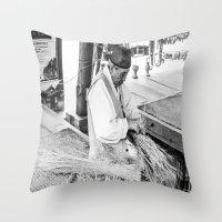 korean Throw Pillows featuring Korean Traditional Craftsman by Jennifer Stinson