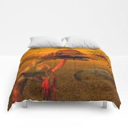 Awesome dilophosaurus Comforters