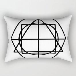 Black lines minimalism Rectangular Pillow